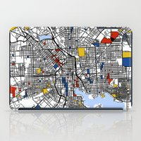 baltimore iPad Cases featuring Baltimore Mondrian by Mondrian Maps