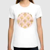 gold foil T-shirts featuring Pink Gold Foil 02 by Aloke Design