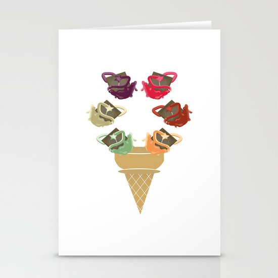 Chocolate Rippleboat Sundae  Stationery Cards