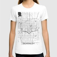oklahoma T-shirts featuring Oklahoma City Map Gray by City Art Posters