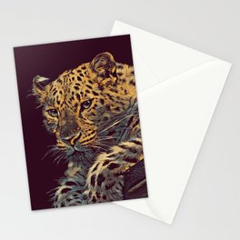THE LEOPARD 002 - The Dark Animal Series Stationery Cards