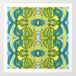 Lettuce Bloom Kaleidoscope Art Print