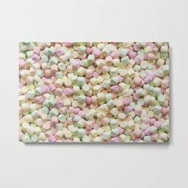 Mini Marshmallow Photo Pattern Metal Print