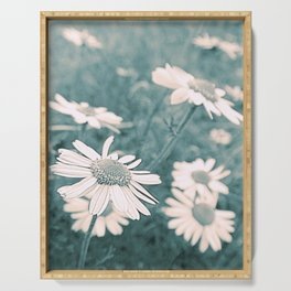 Vintage Daisies Serving Tray