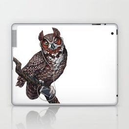 Great Horned Owl with Headphones Laptop & iPad Skin