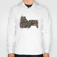 cities Hoodies featuring Twin Cities by BigRedSharks