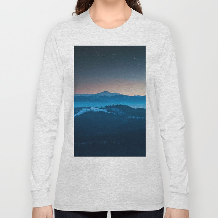 Magic mountains #society6#buyart Long Sleeve T-shirt