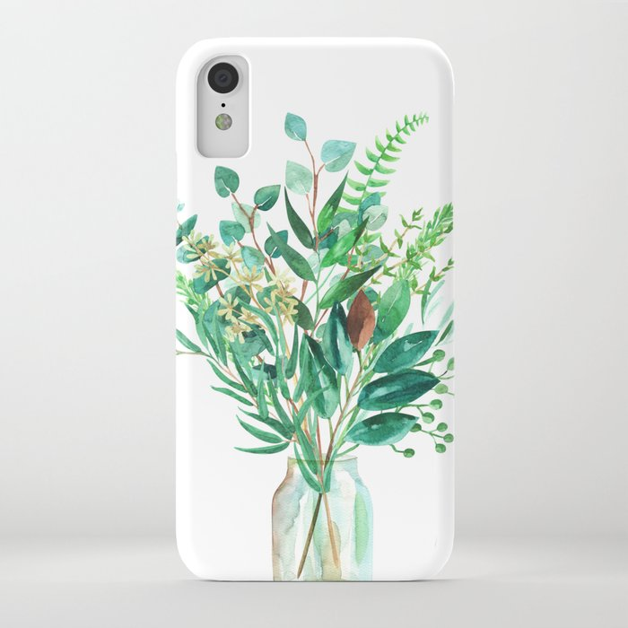 greenery in the jar iphone case