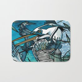 The Chesapeake Bay Blues Bath Mat