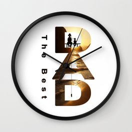 Gift for the dad Wall Clock