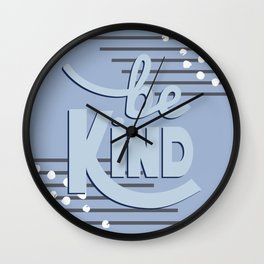 B(lu)e Kind Wall Clock