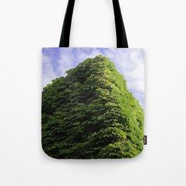 Amazing Green Vines Blanket a Building in Port Hope Tote Bag