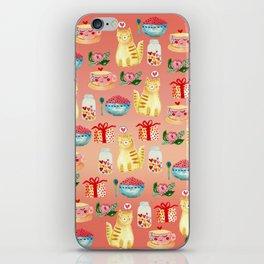 Watercolor Love doodles iPhone Skin
