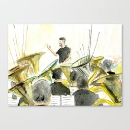 Tuba concert Canvas Print