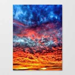 Red Sky at Night, Sailor's Delight Canvas Print