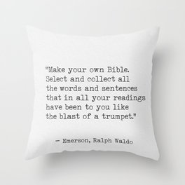Ralph Waldo Emerson awesome quote 9 Throw Pillow
