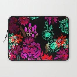 Neon Glow Floral Blooms Laptop Sleeve