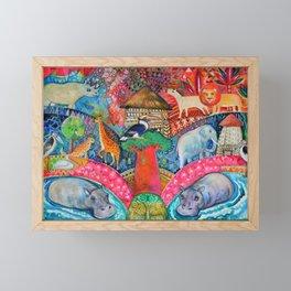 Happy Africa Framed Mini Art Print