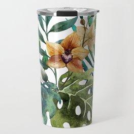 Tropical Floral Pattern 03 Travel Mug