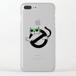 Cat Thug Buster | Digital Art Clear iPhone Case