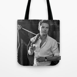 Black and White SEBASTIAN STAN #4 Tote Bag