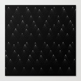 poppy seed dot pattern Canvas Print