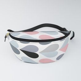 Love and Kisses in Pink and Grey Fanny Pack