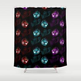 Wild crazy cherry Shower Curtain