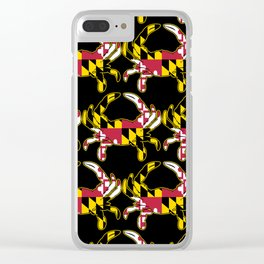 Maryland Flag Crab Clear iPhone Case