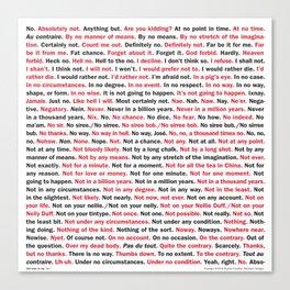 "162 Ways to Say ""No."" Canvas Print"