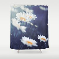 daisies Shower Curtains featuring Daisies by Kameron Elisabeth