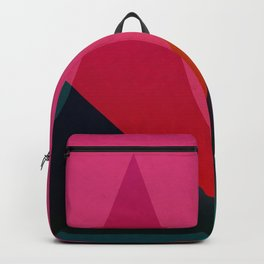 moon light geometric abstract landscape Backpack