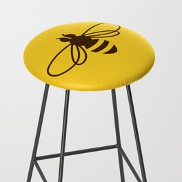 Be safe - save bees Bar Stool
