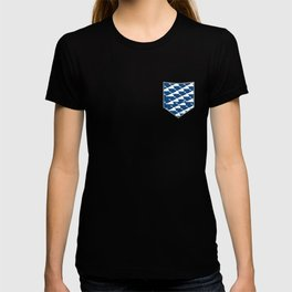 Whale in Blue Ocean with a Love Heart T-shirt