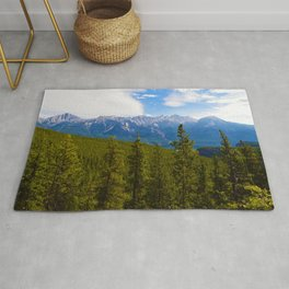 Collin Range as seen from the Palisades in Jasper National Park, Canada Rug