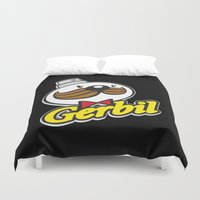 fat Duvet Covers featuring Fat Cap by The Killer Gerbil
