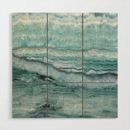 Mystic Stone Aqua Teal Wood Wall Art