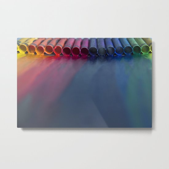Crayons: Just Melted Metal Print