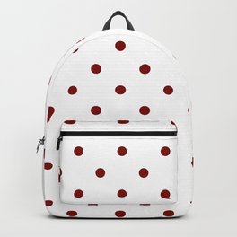 Polka Dots Pattern: Maroon Backpack