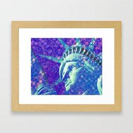 Lady Liberty New York Framed Art Print