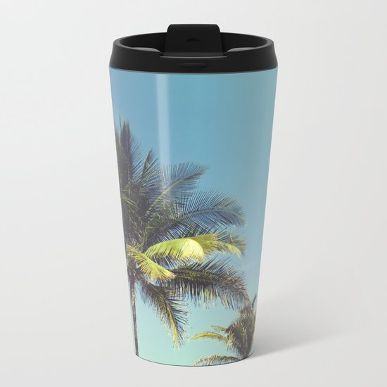 Tropical Palm Trees Metal Travel Mug