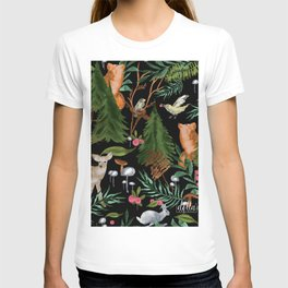 Winter Forest Animals T-shirt