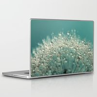 sparkles Laptop & iPad Skins featuring Cyan Sparkles by Sharon Johnstone