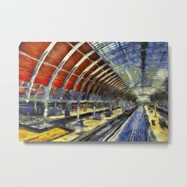 Paddington Railway Station Art Metal Print