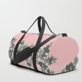 Pink potted ivy Duffle Bag
