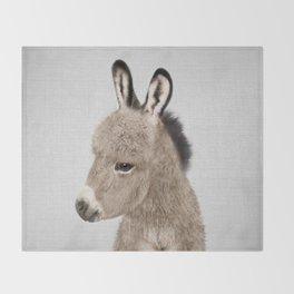 Donkey - Colorful Throw Blanket