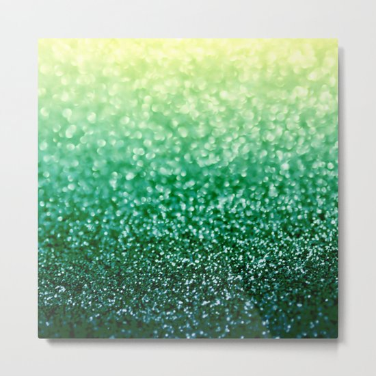 Blizzard over Evergreen Metal Print