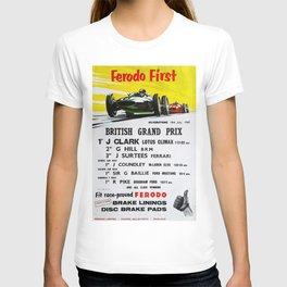 British Grand Prix, Silverstone, 1965, Vintage Poster, car poster T-shirt