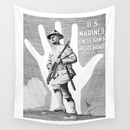 US Marines -- Uncle Sam's Right Hand Wall Tapestry