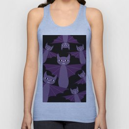 Purple Bats Unisex Tank Top